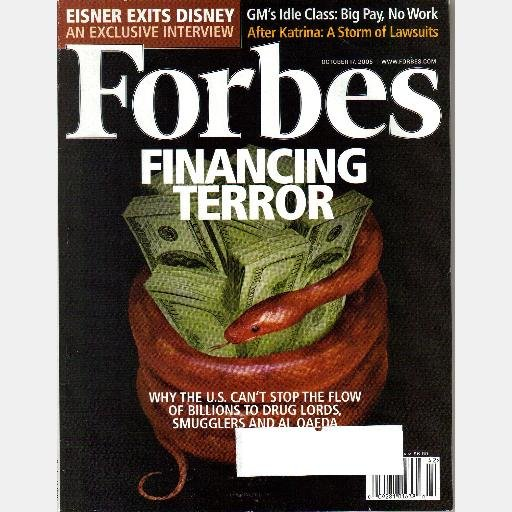 FORBES Magazine October 17 2005 FINANCING TERROR Eisner Exits Disney GM Idlers Katrina Lawsuits