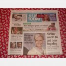USA TODAY April 15 2008 Tuesday Newspaper Pittsburgh Penguins Cindy McCain Delta Northwest