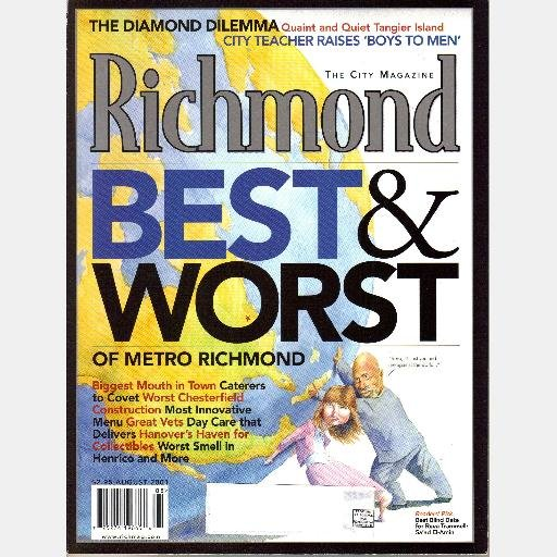 RICHMOND August 2001 Virginia Magazine BEST WORST Sa'ad El-Amin Gregg Stallings JULIE BRAGG