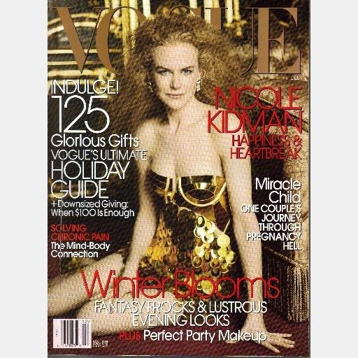 VOGUE DECEMBER 2006 NICLOLE KIDMAN Magazine Roger Federer Chris Clarke Caroline Trentini