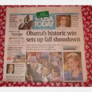 USA TODAY June 4 2008 Newspaper Wednesday Sophia Loren Nine OBAMA Nomination