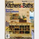 Woman's Day CUSTOM KITCHENS & BATHS 1998 Volume 8 VIII Number 2 Womans Day Special Interest