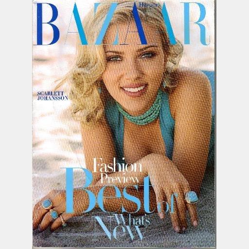 HARPER'S BAZAAR JANUARY 2005 Magazine SCARLETT JOHANSSON cover