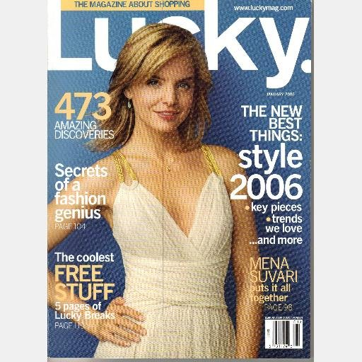 LUCKY January 2006 Mena Suvari Cover Magazine