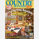 COUNTRY ACCENTS July August 1990 Vol 4 No 3 Magazine Virginia Double Log Cabin WINDOW BOXES
