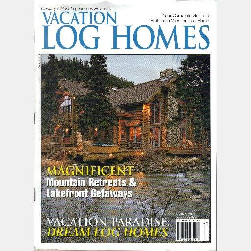 Vacation log homes spring 2002 magazine countrys best log for Spring cottage magazine