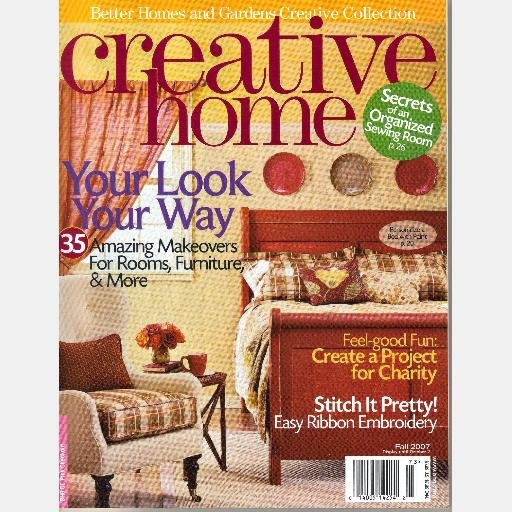 BETTER HOMES GARDENS CREATIVE HOME FALL 2007 Magazine Special Interest Crackle Paint Finish