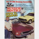 MUSTANG MONTHLY July 1984 Magazine Vacuum schematic 1967-68 with AC*1969 Indian Fire Convertible