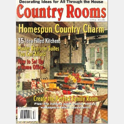 COUNTRY ROOMS FALL 1994 Vol 1 No 2 Magazine GCR Publishing Rodgers East Islip LI
