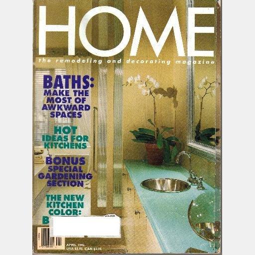 HOME April 1996 Magazine Steve Raichlen Kitchen Dan Maddux Habitat Post Beam Plan Barn-style