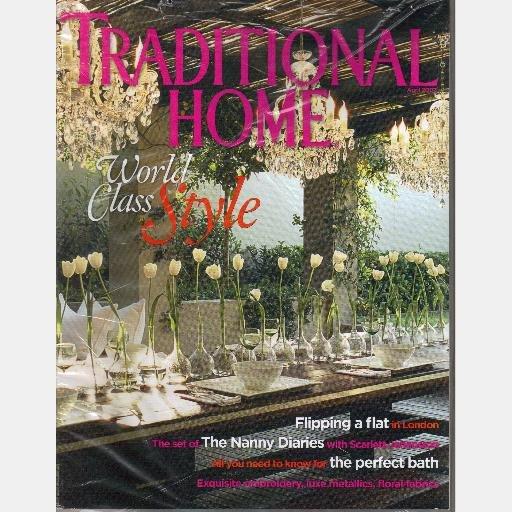 TRADITIONAL HOME April 2007 Magazine Set of the Nannie Diaries Scarlett Johansson