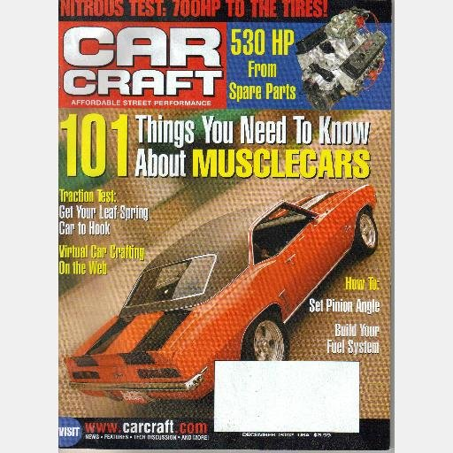 CAR CRAFT December 2002 Magazine Set Pinion Angle Ford Auto Transmission Guide Part 2 1965 LeMans