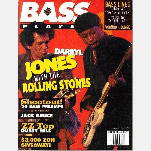 BASS PLAYER January February 1995 Magazine DARRYL JONES ROLLING STONES Jack Bruce ZZ TOP DUSTY HILL