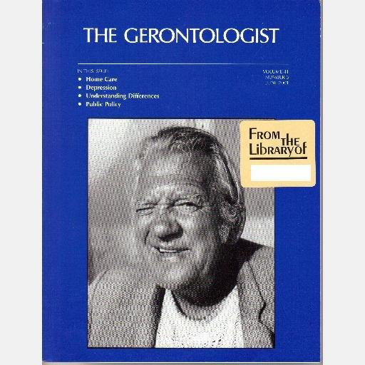 THE GERONTOLOGIST journal June 2001 Vol 41 No 3 Depression Paranoid ideation mismanaging medications