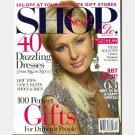 SHOP ETC Magazine December 2005 January 2006 Holiday PARIS HILTON COVER