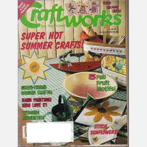 CRAFTWORKS for the Home Magazine June 1994 Sunflower Place Setting GRAPES TRIVET Calico Crows