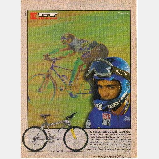 Ad for GT All Terra 1995 Team LTS Mike King magazine Bicycle Bike