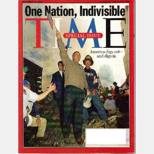 TIME September 24 2001 Special Issue Magazine 911 One Nation Indivisible America Digs Out