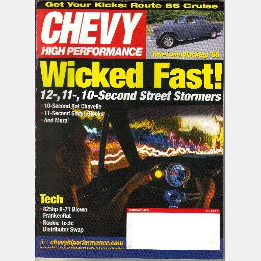Chevy High Performance February 2003 Magazine 10 Sec Rat 66 Chevelle 69 Camaro 71 Blown FrankenRat