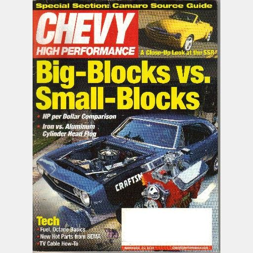Chevy High Performance March 2002 Magazine Vannoy 66 TPI Chevy II Stealth S15 Lingenfelter turbo 427