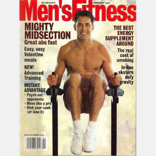 MEN'S FITNESS February 1995 Joe Weider Magazine