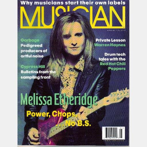 MUSICIAN January 1996 Magazine MELISSA ETHERIDGE Warren Hayes CYPRESS HILL Red Hot Chili Peppers