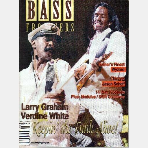 BASS FRONTIERS Magazine Vol 5 No 1 Jan Feb 1998 VERDINE WHITE Larry Graham KEITH HORNE Jason Scheff