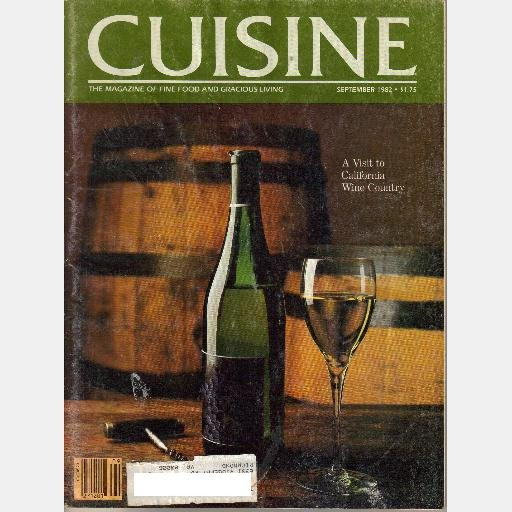 CUISINE September 1982 Magazine English Cider Percy Copp BUTTER CAKES Marinated Duck Leeks