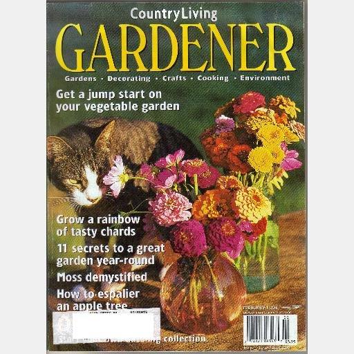 COUNTRY LIVING GARDENER February 1998 Magazine Espalier Apple Chards Kultaranta Avena Botanicals