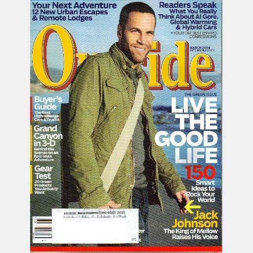 OUTSIDE March 2008 Magazine Jack Johnson Heidi Cullen SIENNA MILLER Edward Norton