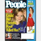 PEOPLE Magazine September 24 2007 BEST WORST DRESSED Madeleine McCann Britney Spears VMA