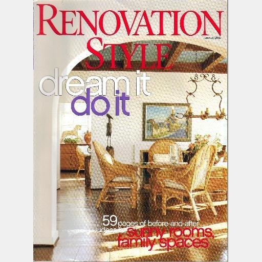 RENOVATION STYLE June July 2002 Magazine Jay Waronker McBride Charleston Hemmingway Interim House