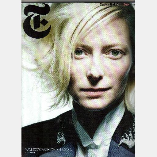 NEW YORK TIMES STYLE Magazine WOMENS FALL FASHION 2005 Tilda Swinton cover Hans Feurer