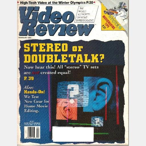 VIDEO REVIEW FEBRUARY 1992 Magazine Volume 12 Number 11 Video 1992 Winter Olympics