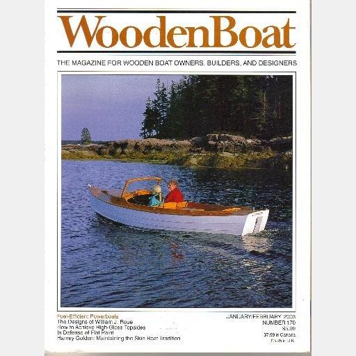 WOODENBOAT Wooden Boat January February 2003 170 William J Roue Harvey Golden kayak CORE SOUNDERS