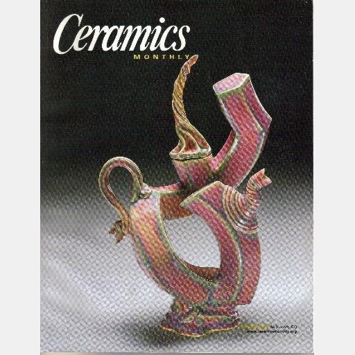 CERAMICS MONTHLY MARCH 2002 Vol 50 No 3 Magazine John Chalke NARRATIVE TEAPOTS Jerilyn Virden