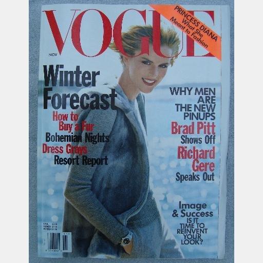 VOGUE November 1997 Stella Tennant Brad Pitt Richard Gere Bohemian Rhapsody Princess Diana Trubute