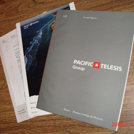 PACIFIC TELESIS Annual Report 1986 1988