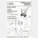 SEARS Model 671 19300 BROADCAST SPREADER Owners Owner Manual Book Assembly Operating Parts LS1930092