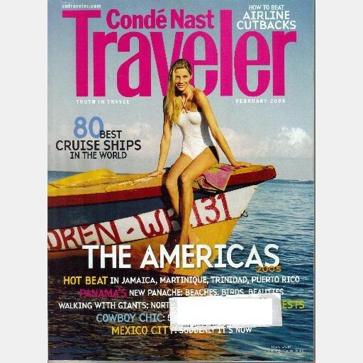 CONDE NAST TRAVELER February 2005 Magazine Cowboy Chic Mexico City Panama Jamaica Martinique