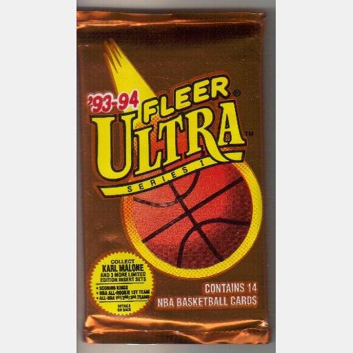 1993 1994 FLEER ULTRA SERIES I  14 NBA Basketball Cards New Sealed Pack
