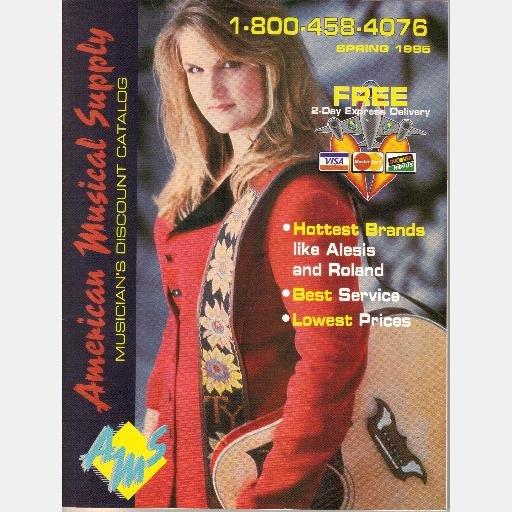 American Musical Supply AMS Spring 1995 Catalog TRISHA YEARWOOD COVER