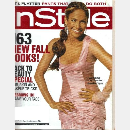 INSTYLE August 2004 Magazine Jennifer Lopez ELISABETH ROHM SUMMER PLACE Peter Krause