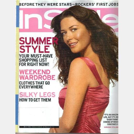 INSTYLE July 2004 In style Magazine Catherine Zeta-Jones Lori Loughlin Alanis Morissette