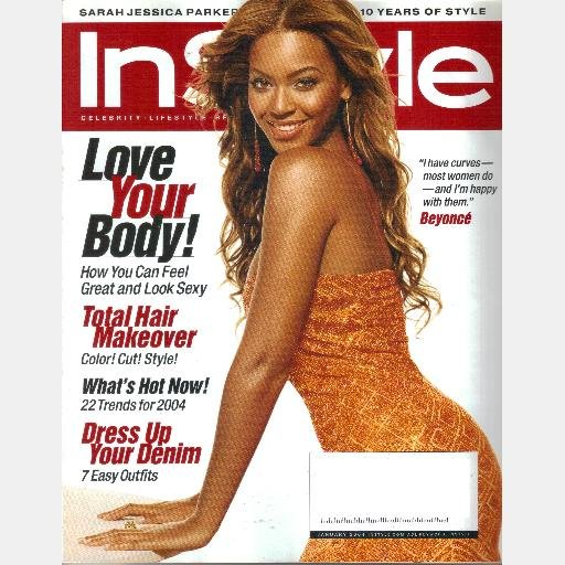 INSTYLE January 2004 Magazine Beyonce Naomi Campbell Sarah Jessica Parker LeAnn Rimes
