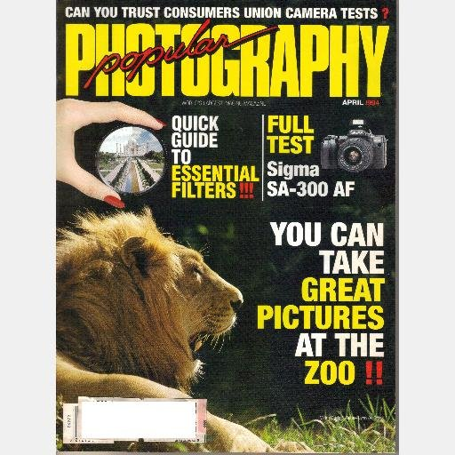 POPULAR PHOTOGRAPHY APRIL 1994 Magazine VOLUME 58 No 4 Sigma SA 300 AF ZOO PICTURES Polarization