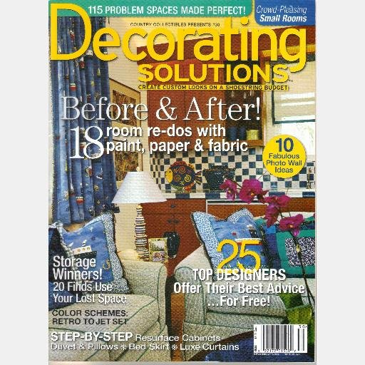 COUNTRY COLLECTIBLES DECORATING SOLUTIONS No 30 2006 Magazine Jane Benson Shelly Manee Laguna Beach