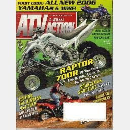 4 Wheel ATV Action August 2005 Magazine RAPTOR 700R Outlander V-TWIN 800 Yamaha YFZ450