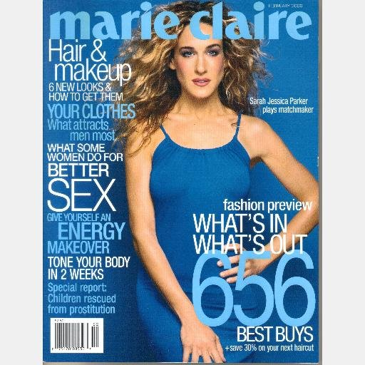 MARIE CLAIRE February 2000 Magazine SARAH JESSICA PARKER cover Ruth Marie Avalanche Mount Ranier