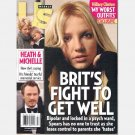 US Weekly February 18 2008 Magazine 679 Britney Brit Fights Bipolar HEATH LEDGER MICHELLE
